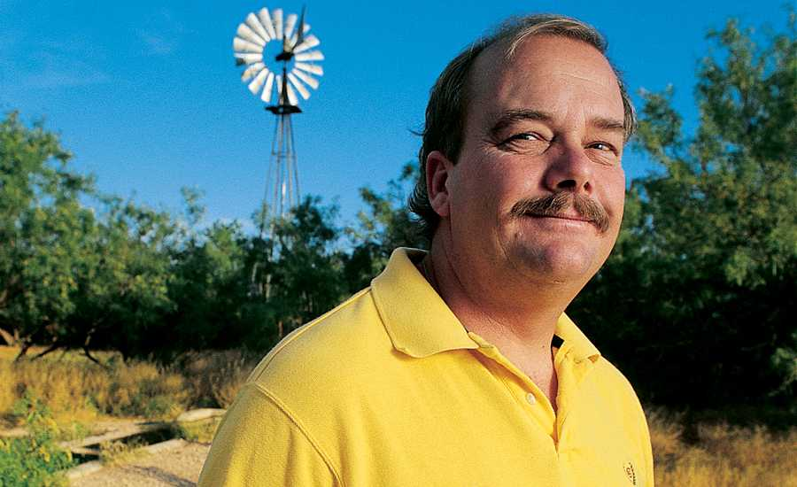 Scott Unruh on his family's Texas ranch