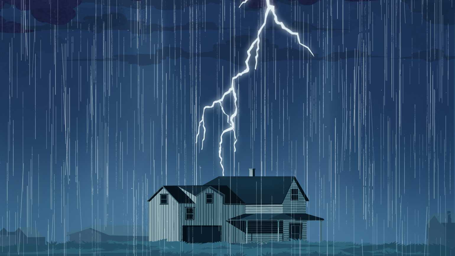 A mysterious voice in a frightening thunderstorm wreaked havoc on her homee.