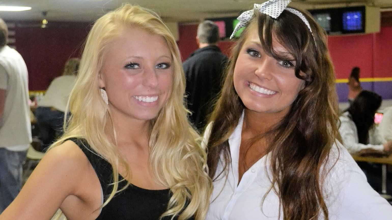 Michelle's daughters, Ally and Abby.