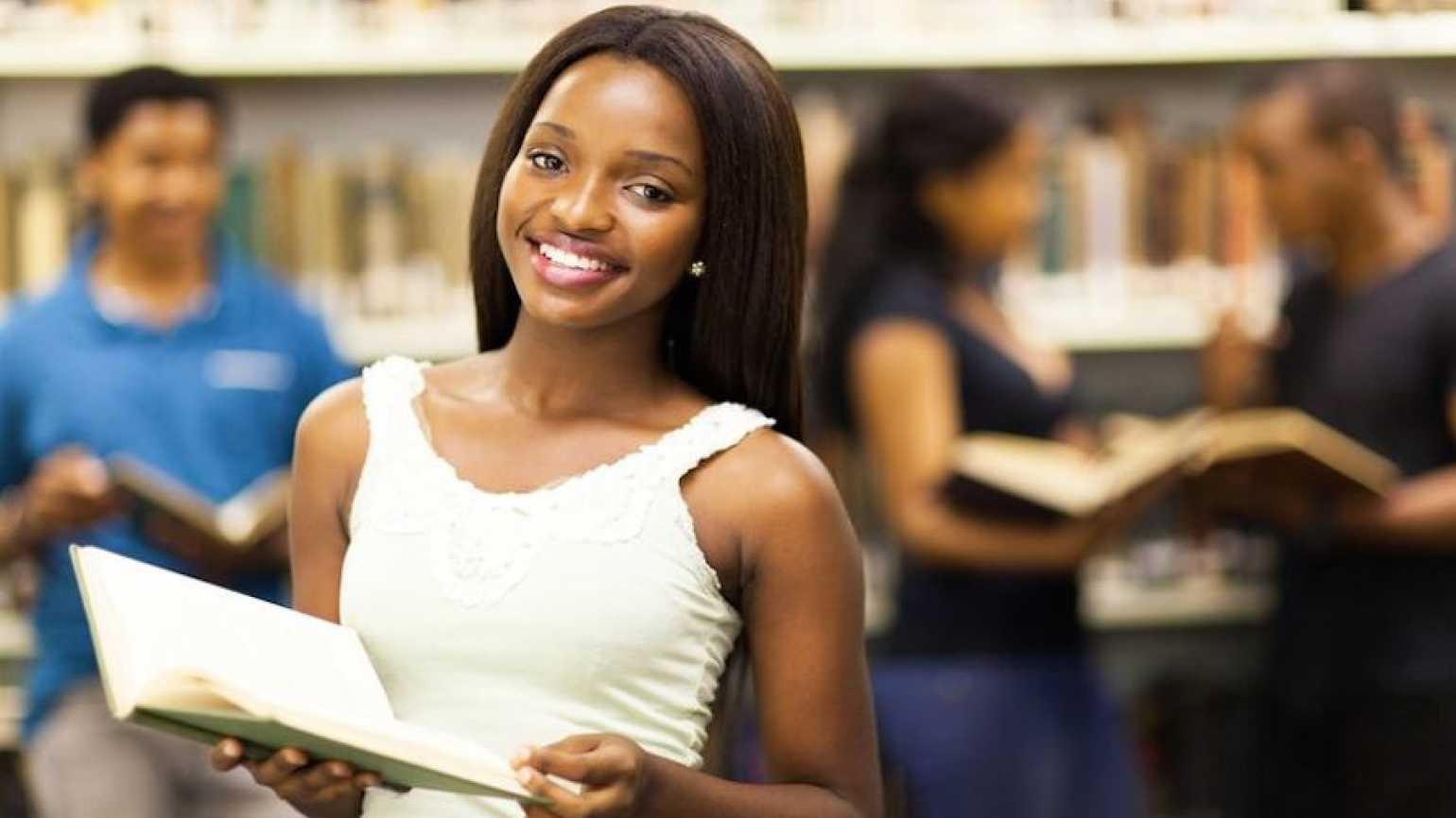 Young woman at college. (Thinkstock)