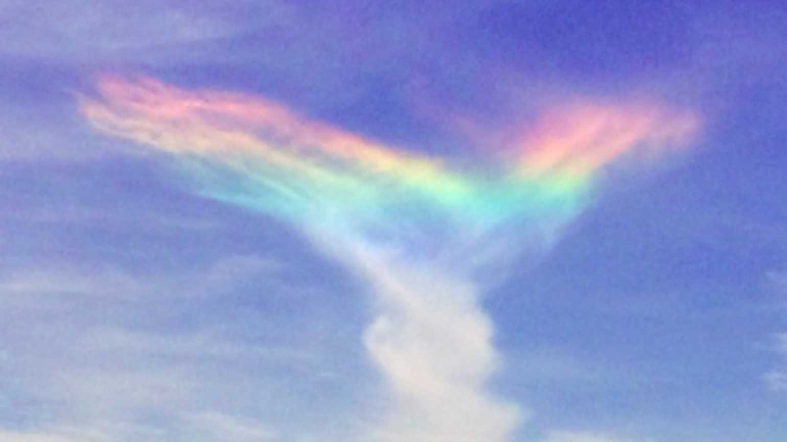 God paints the sky with this rare recently spotted fire rainbow.