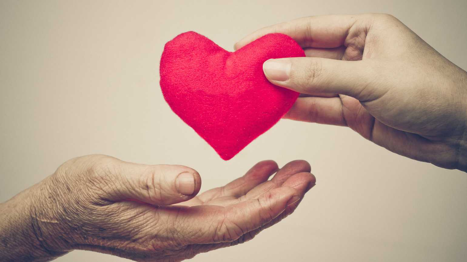 How to give with joy and love.