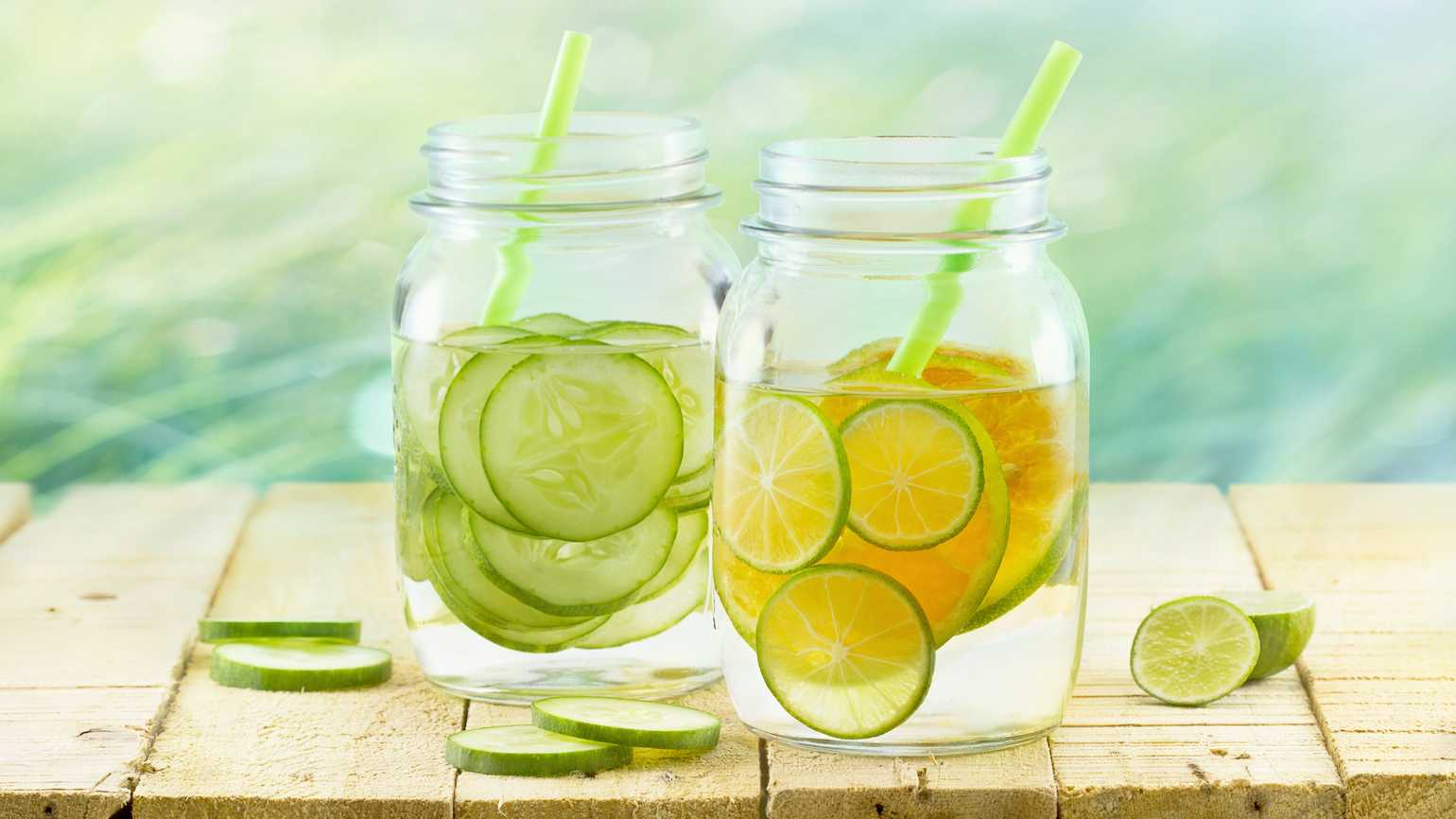 Healthy, flavored water for summer
