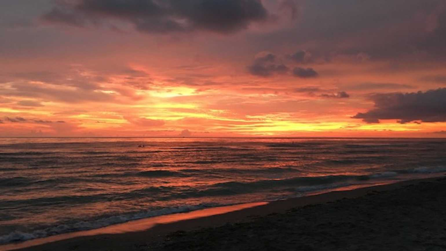 The wonder of a sunset at the beach. Photo by Diana Aydin.