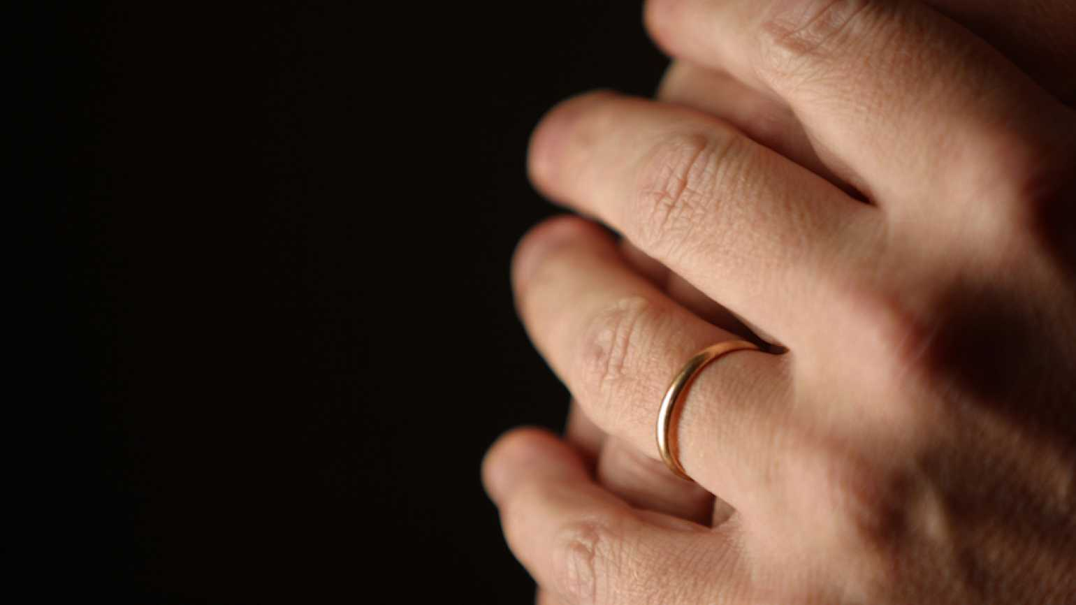 A wedding ring for a long marriage.