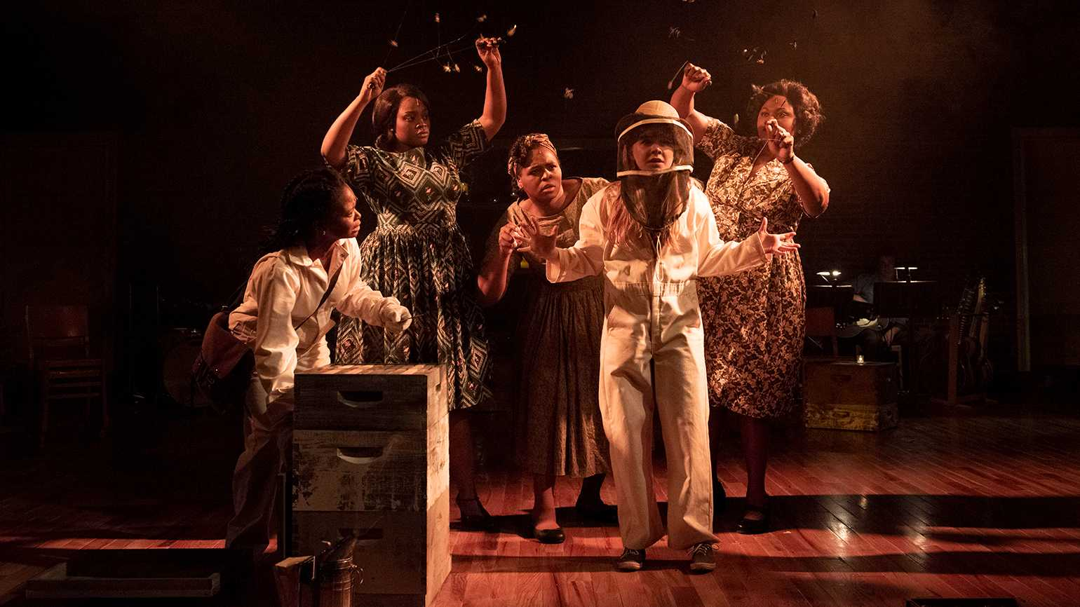 A scene from the Atlantic Theatre Company's production of 'The Secret Life of Bees'