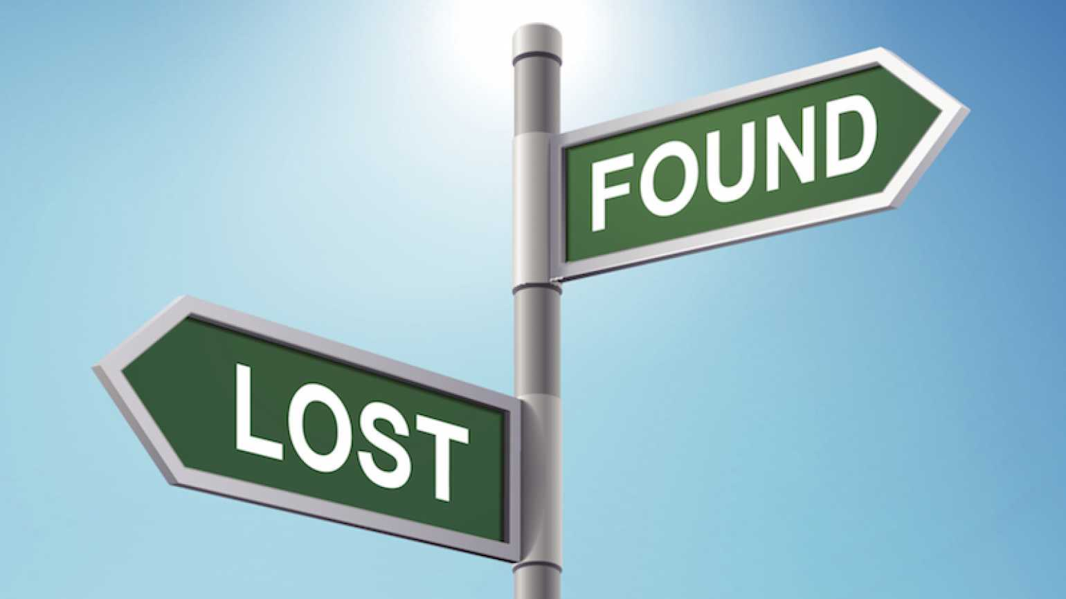 Lost and found. Photo by totallyPic.com, Thinkstock.