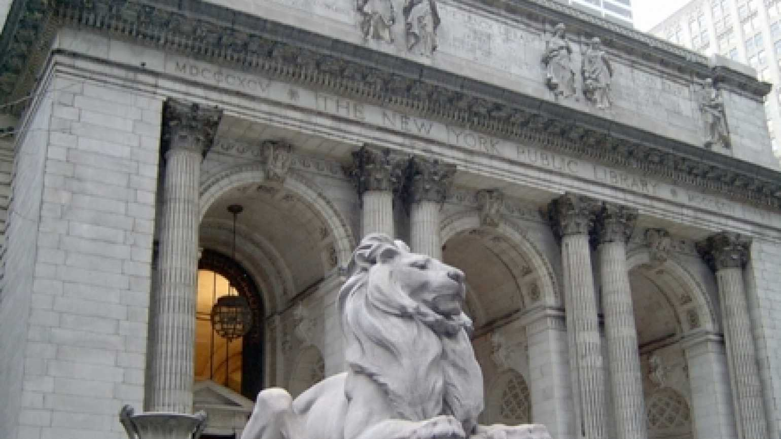 New York Public Library lions serve as an angelic reminder