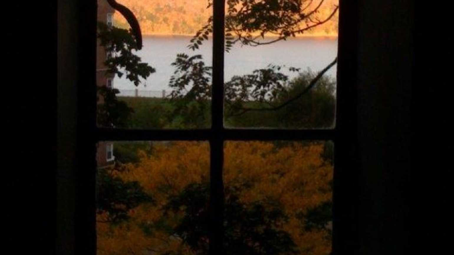 The beautiful autumn view out of prayer blogger Rick Hamlin's window