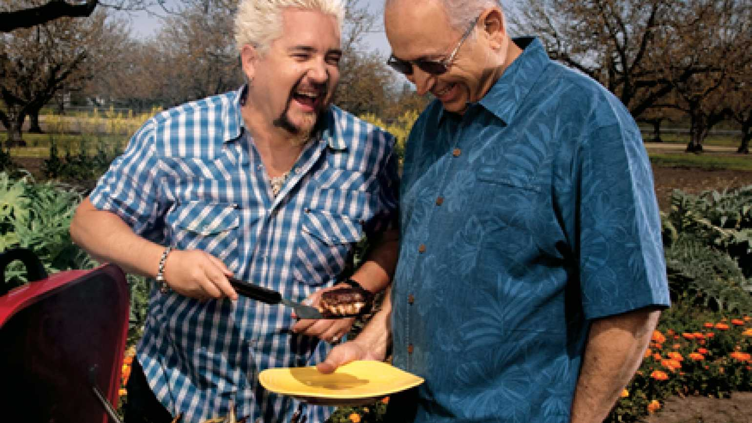 Celebrity chef Guy Fieri and his father