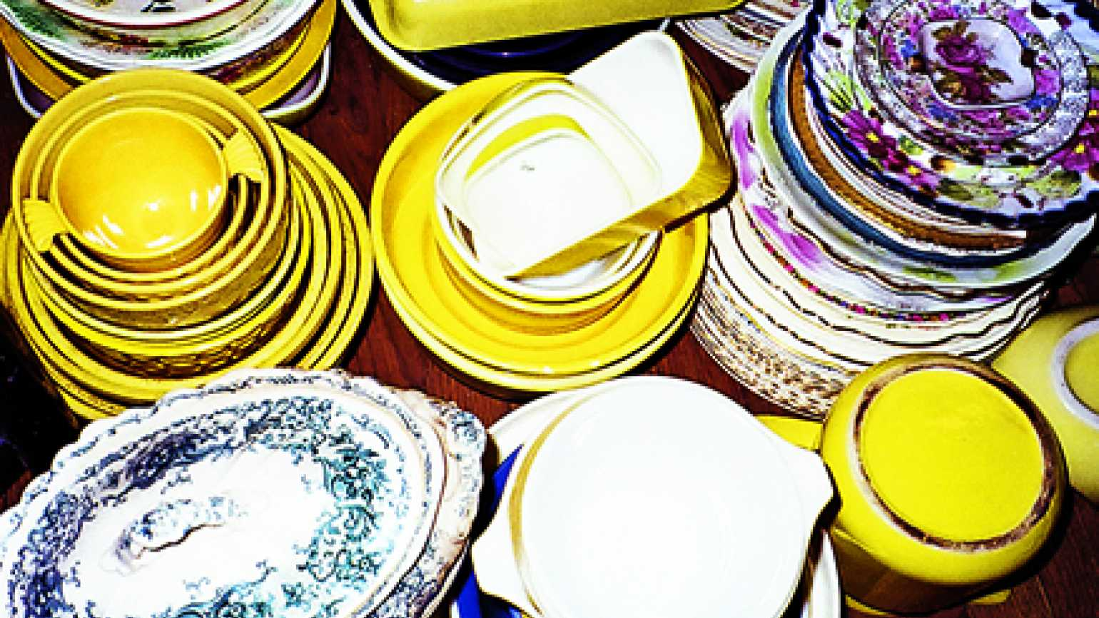 Jessie's vintage plates and saucers