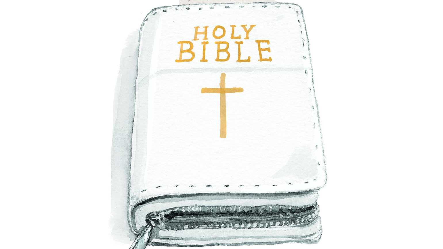 Illustration of a white bible