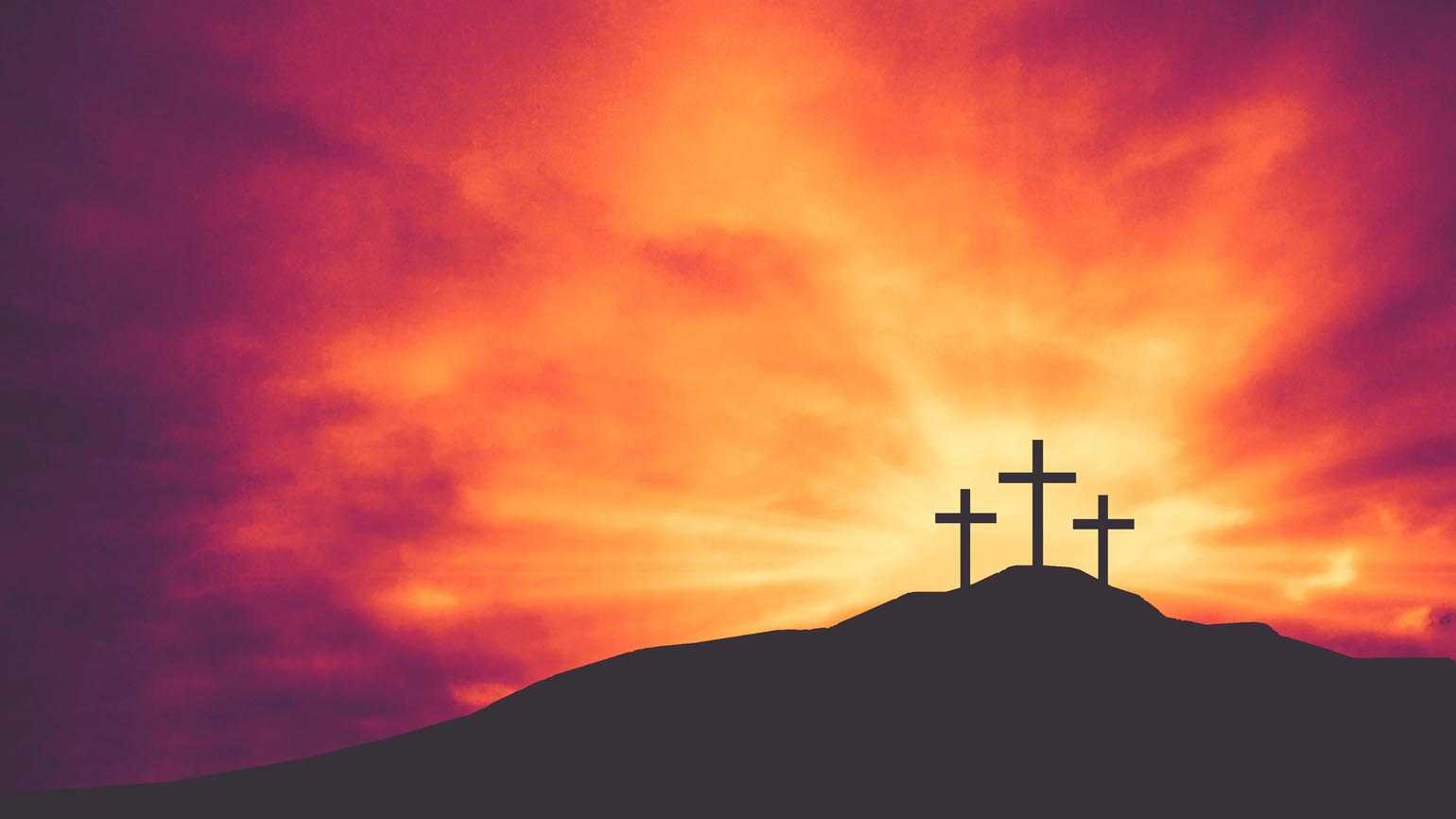 Three Christian Easter and Good Friday Holiday Crosses