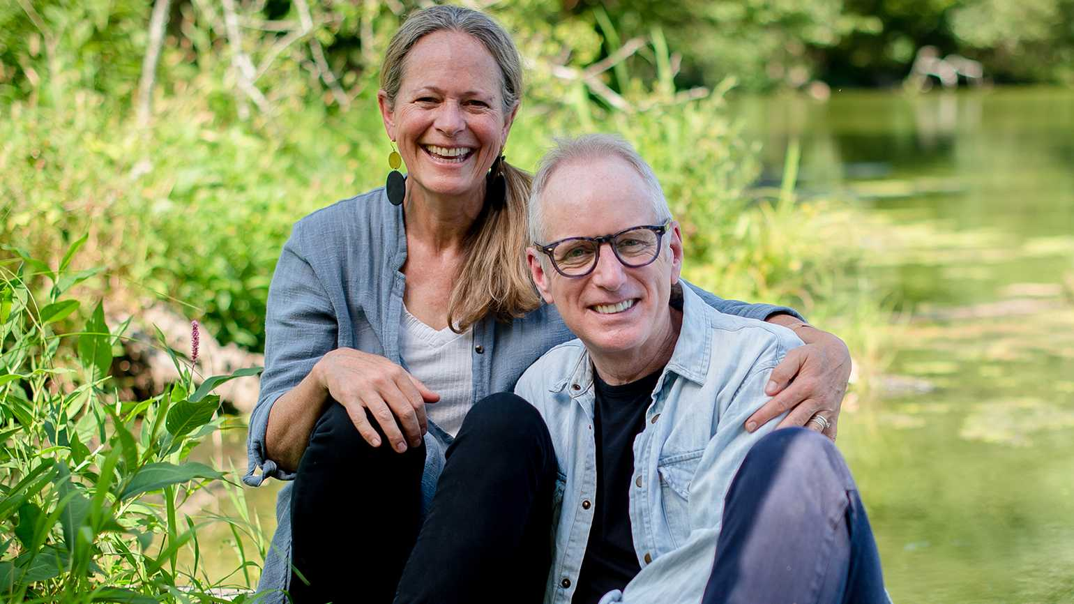 Ian Morgan Cron and his wife, Anne; photo by Tamika Moore