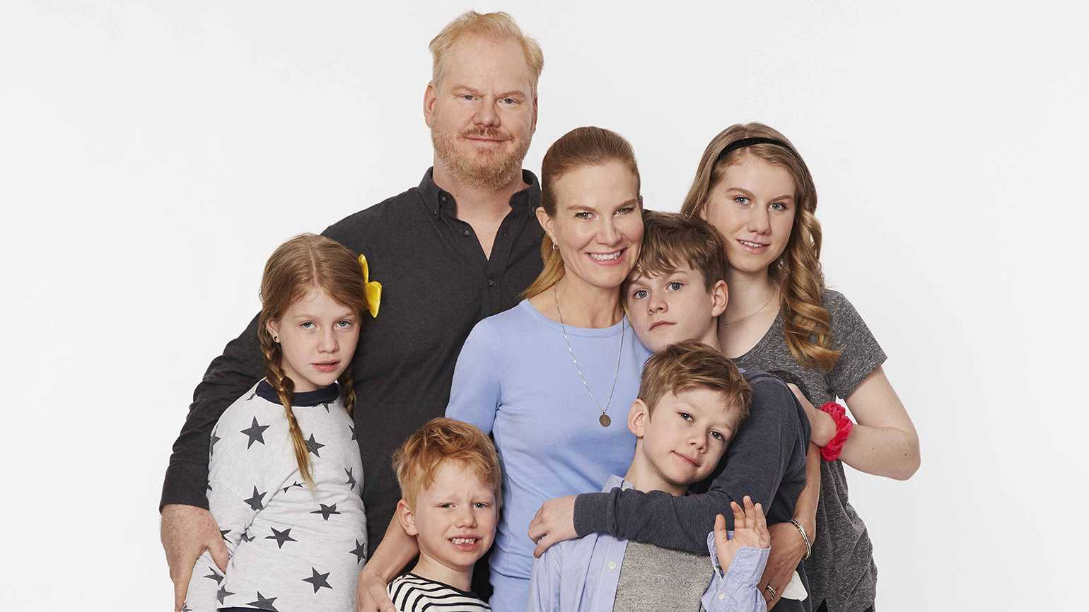 Jeannie and Jim with their kids, Marre, Jack, Michael, Patrick and Katie