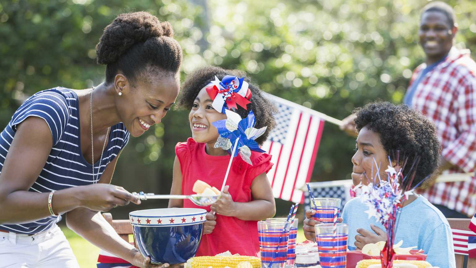 A family barbecue during Memorial Day weekend.