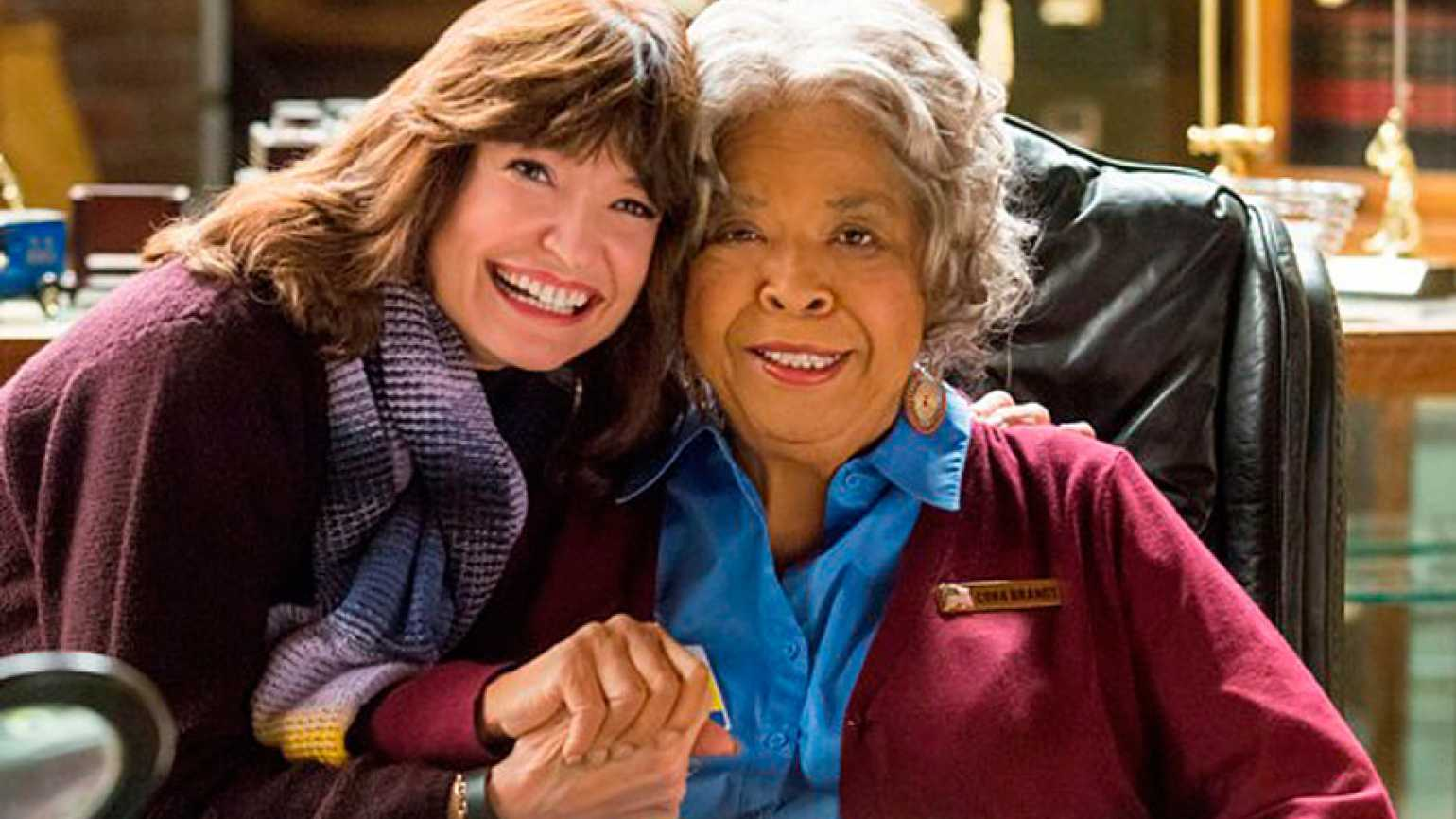 "Martha Williamson with ""Touched by an Angel"" star Della Reese"