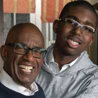 Today show weatherman and co-anchor Al Roker with son Nick