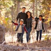 A family stroll in the fall