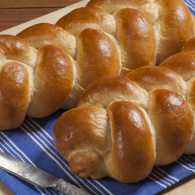Baking challah bread