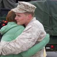 Guideposts: Edie's son, Jimmy, saying goodbye to his fiancee before being deployed to Iraq.