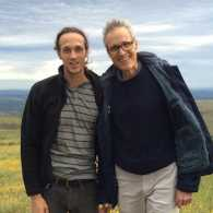 Rick Hamlin and his son, Tim, in South Africa.