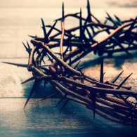 Crown of thorns on Good Friday