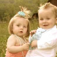 Michelle Cox's Twin grandchildren Eden and Ethan