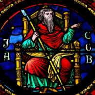 Jacob in stained glass window at Notre Dame Cathedral