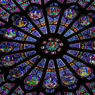 Rose window at Cathedral of Notre-Dame