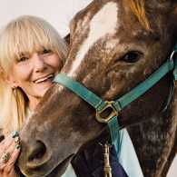 Patti and her equine friend, Kitty Silverwings