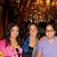 Diana (second from right) with her family at the Church of the Holy Sepulchre