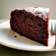 A slice of Lorraine Pascale's Fudgy Orange and Beet Cake