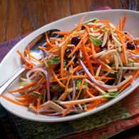Carrot-Apple Slaw with Cranberries
