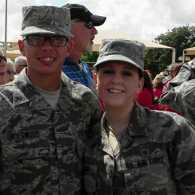Michelle's active-duty friends, Michael and Lora