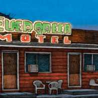 An artist's rendering of the motel when Dr. Hufman delivered the baby