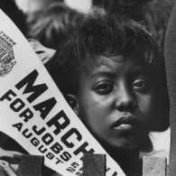 Edith Lee-Payne at the 1963 March on Washington by Rowland Scherman.
