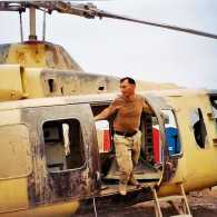 Bobby Henline in Iraq, before he was injured.