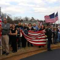 A parade in honor of our troops.