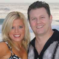 Inspirational Stories blogger Michelle Medlock Adams with husband at the beach