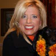 Michelle Medlock Adams and her dog, Mollie Mae