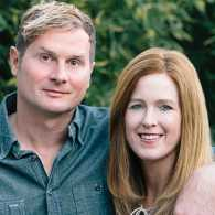 Rob Bell and Kristen Bell, author photo, The ZimZum of Love, Guideposts
