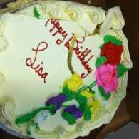 Mysterious Ways blogger Diana Aydin's smushed birthday cake for her friend Lisa