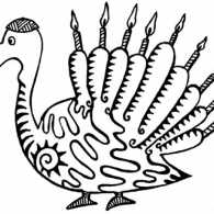 A Thanksgivukkah Menurkey; illustration credit: http://www.karmabee.com/