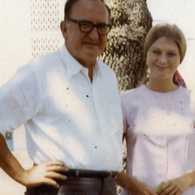 Kathryn Slattery and her father