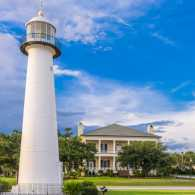 The Biloxi Lighthouse in Biloxi, Mississippi