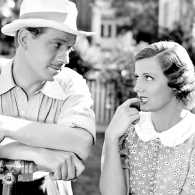 Melvyn Douglas and Irene Dunne in a scene from Thedora Goes Wild