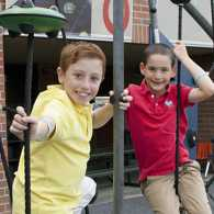 Guideposts: Dylan (right) with his best friend, Jonah