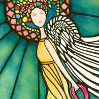 Guideposts: Transcendental Journey, the angel painting Renee gave her sister while she battled cancer