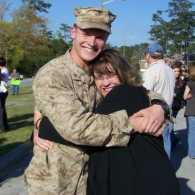 Support Military Families, Edie Melson and Son